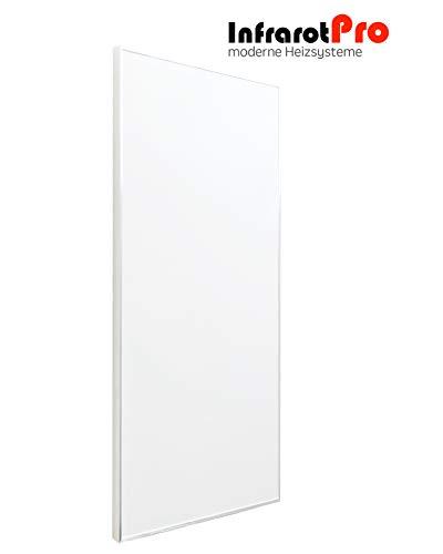 InfrarotPro Infrarotheizung 600W weiß mit Digitalthermostat 15 Jahre GARANTIE Made in Germany Infrarot-Heizung 600 Watt mit Thermostat (600-W + P101)