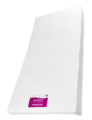 RestRelax Gel Schaumstoff Federkernmatratze, Mikrofaser, Weiß, Microfaser, weiß, Super King (180 x 200cm)